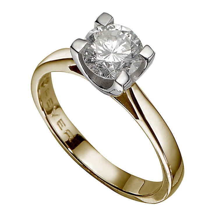 The Forever Diamond 18ct Yellow Gold 1.25 Carat Diamond Ring - Product number 3479447