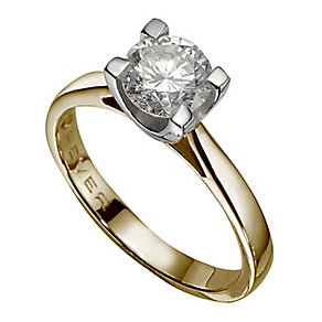 The Forever Diamond 18ct Yellow Gold 1.5 Carat Diamond Ring - Product number 3479846