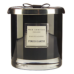 Fired Earth Wax Lyrical Black Tea & Jasmine 2 Wick Candle - Product number 3480917