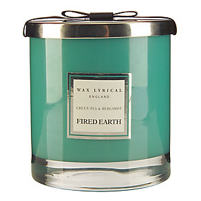 Fired Earth Wax Lyrical Green Tea & Bergamot 2 Wick Candle - Product number 3480925