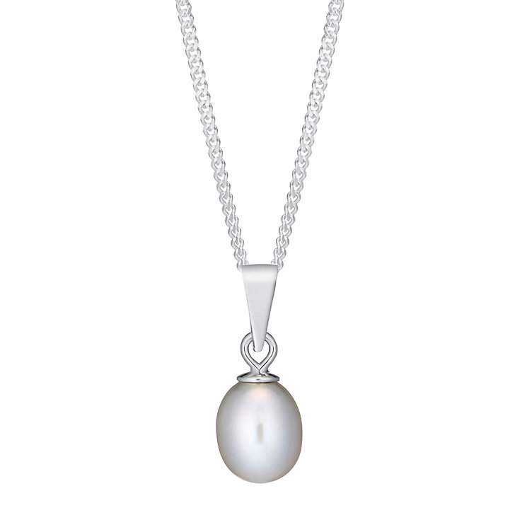 Sterling Silver Grey Pearl Pendant - Product number 3486826