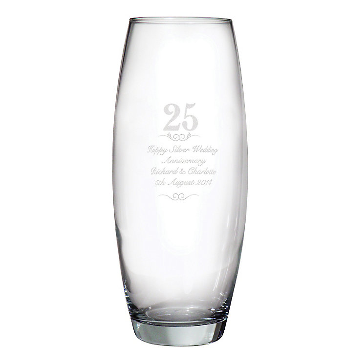Engraved 25 Years Bullet Vase - Product number 3486834