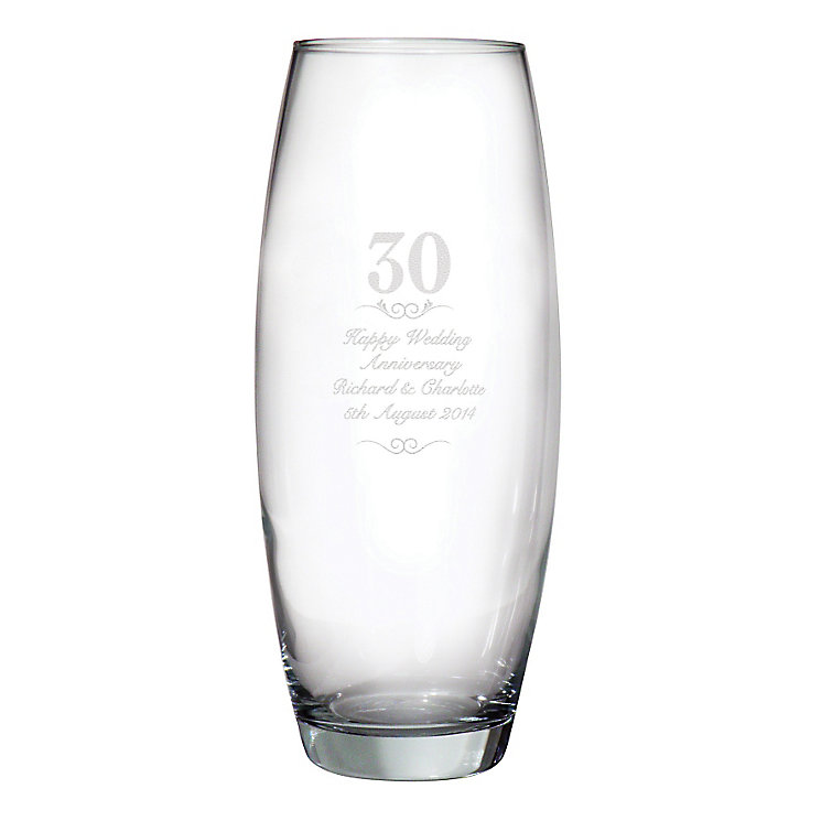 Engraved 30 Years Bullet Vase - Product number 3486850