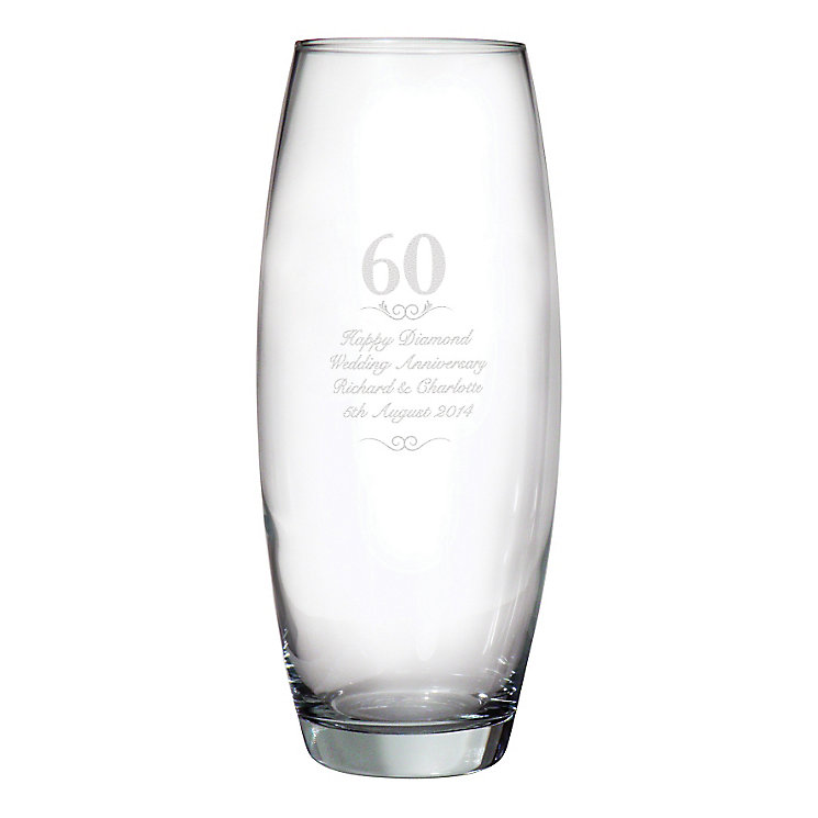 Engraved 60 Years Bullet Vase - Product number 3487105
