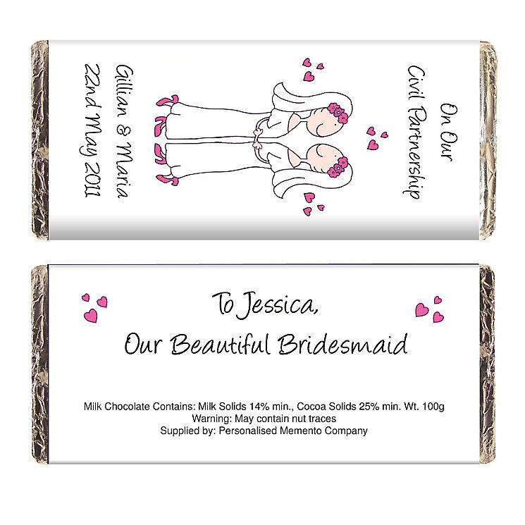 Personalised Cartoon Female Civil Chocolate - Product number 3487156