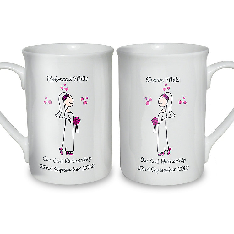 Personalised Female Wedding Mug Set - Product number 3487873