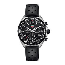 Tag Heuer F1 men's stainless steel black strap watch - Product number 3507939