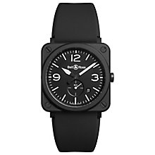 Bell & Ross BRS men's ion-plated black strap watch - Product number 3509850