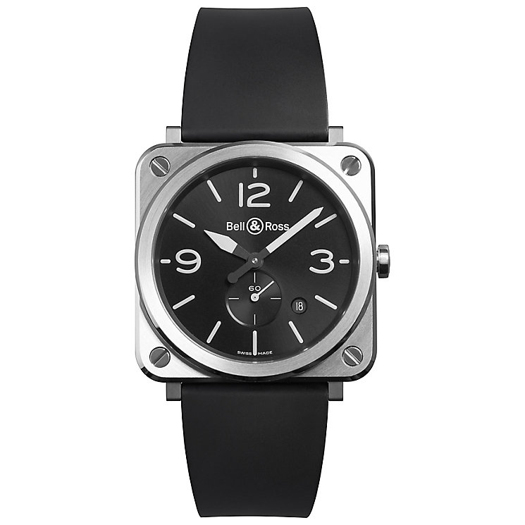 Bell & Ross BRS men's stainless steel black strap watch - Product number 3509966