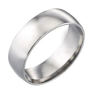 9ct White Gold 7mm Wedding Ring