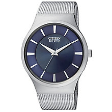Citizen Eco Drive Men's Stainless Steel Mesh Bracelet Watch - Product number 3510867