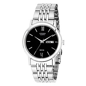 Citizen Men's Black Dial & Stainless Steel Bracelet Watch - Product number 3510891