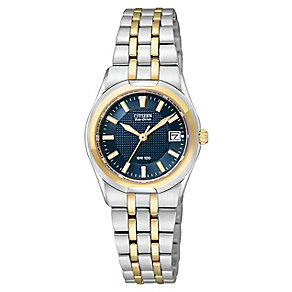 Citizen Eco Drive Ladies' Blue Dial Two Tone Watch - Product number 3511030