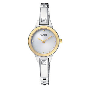 Citizen Eco Drive Ladies' Mother Of Pearl Bangle Watch - Product number 3511081