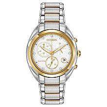 Citizen Eco Drive Ladies' Diamond Two Tone Bracelet Watch - Product number 3511111