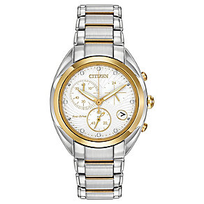 Citizen Eco Drive Ladies' Diamond Two Tone Bracelet Watch - Product number 3511111