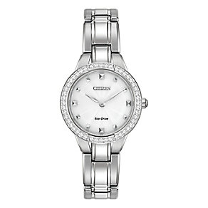 Citizen Eco Drive Ladies' Crystal & Mother Of Pearl Watch - Product number 3511219