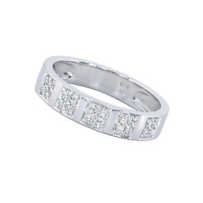 18ct white gold fifth carat diamond wedding ring - Product number 3511790