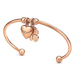 Folli Follie Sweetheart II rose gold plated bangle - Product number 3512843