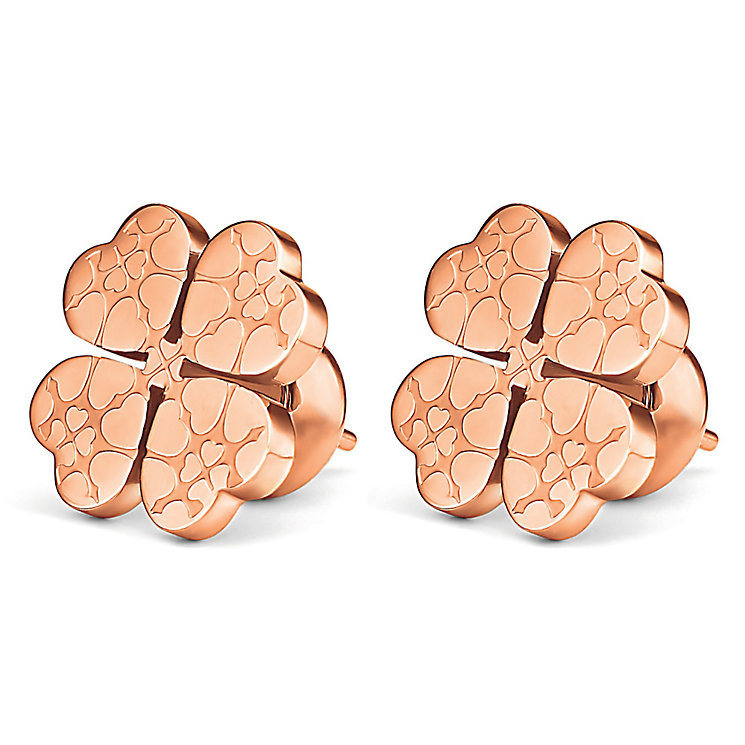 Folli Follie Sweetheart II rose gold plated earrings - Product number 3512851
