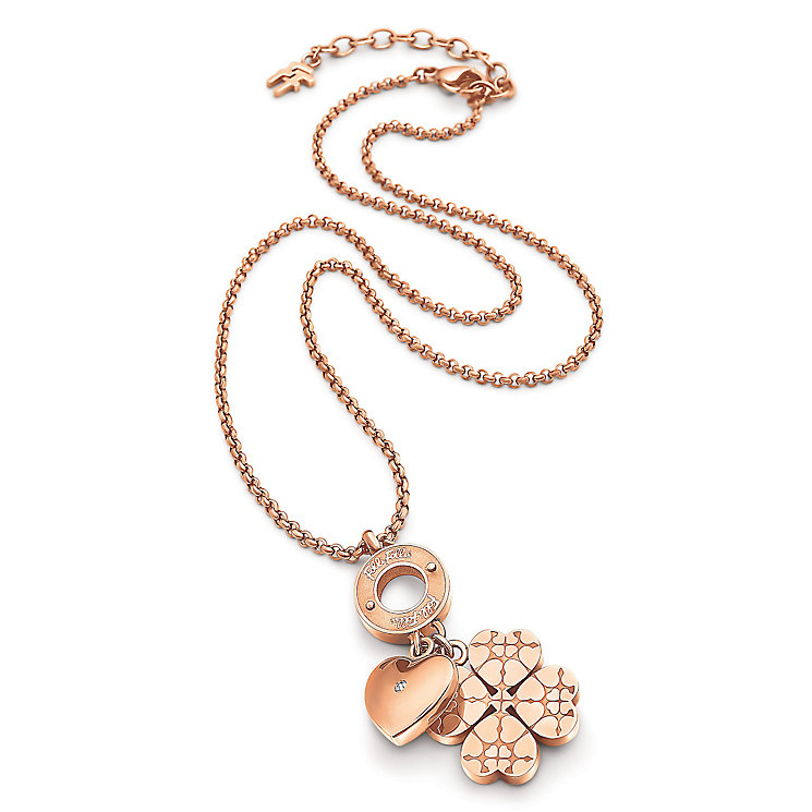 Folli Follie Sweetheart II rose gold plated necklace - Product number 3512878