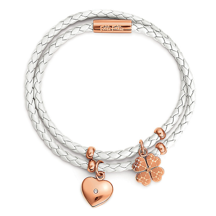 Folli Follie Sweetheart II rose gold plated bracelet - Product number 3512886