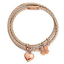 Folli Follie Sweetheart II rose gold plated bracelet - Product number 3512894