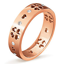 Folli Follie Love & Fortune rose gold-plated ring size N 1/2 - Product number 3513025