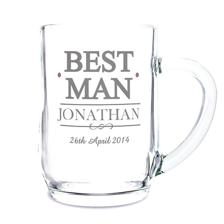 Personalised Mr & Mrs Best Man Tankard - Product number 3513165