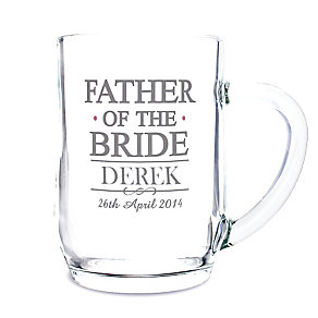 Personalised Mr & Mrs Father of the Bride Tankard - Product number 3513270