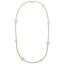 Michael Kors Rose Gold Tone Monogram Disc Necklace - Product number 3513343