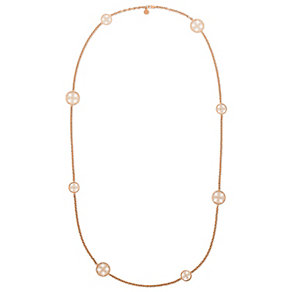 Michael Kors rose gold-plated monogram disc necklace - Product number 3513343