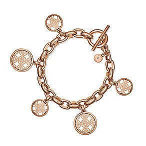 Michael Kors rose gold-plated monogram charm bracelet - Product number 3513394