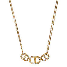 Michael Kors Gold Tone Three Link Double Chain Necklace - Product number 3513807