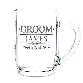 Personalised Mr & Mrs Groom Tankard - Product number 3513947