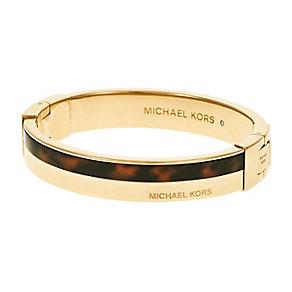 Michael Kors ladies' gold-plated tortoise enamel bangle - Product number 3514013