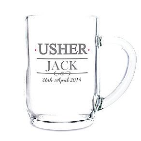 Personalised Mr & Mrs Usher Tankard - Product number 3514927