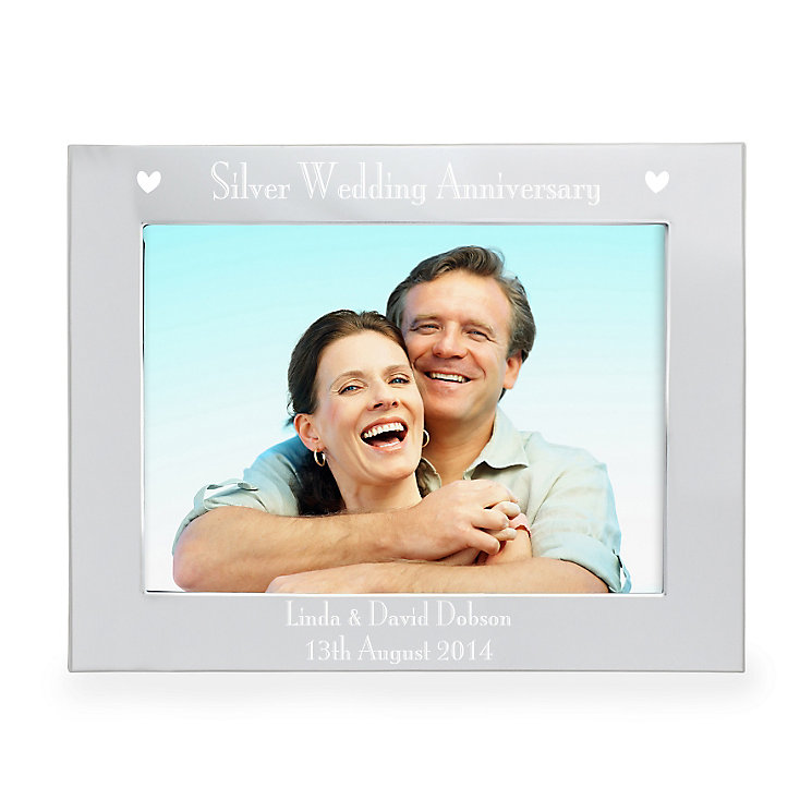 Personalised 5x7 Silver Anniversary 5x7 Frame - Product number 3515982