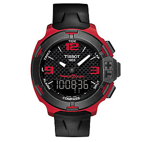 Tissot T-Racer men's ion-plated black strap watch - Product number 3517381