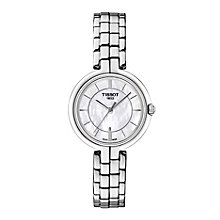 Tissot Flamingo stainless steel mother of pearl watch - Product number 3518531