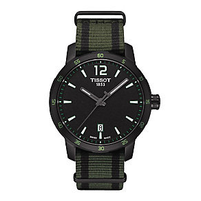 Tissot men's ion-plated black strap watch - Product number 3518574