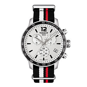 Tissot Quickster stainless steel tricolour strap watch - Product number 3518620