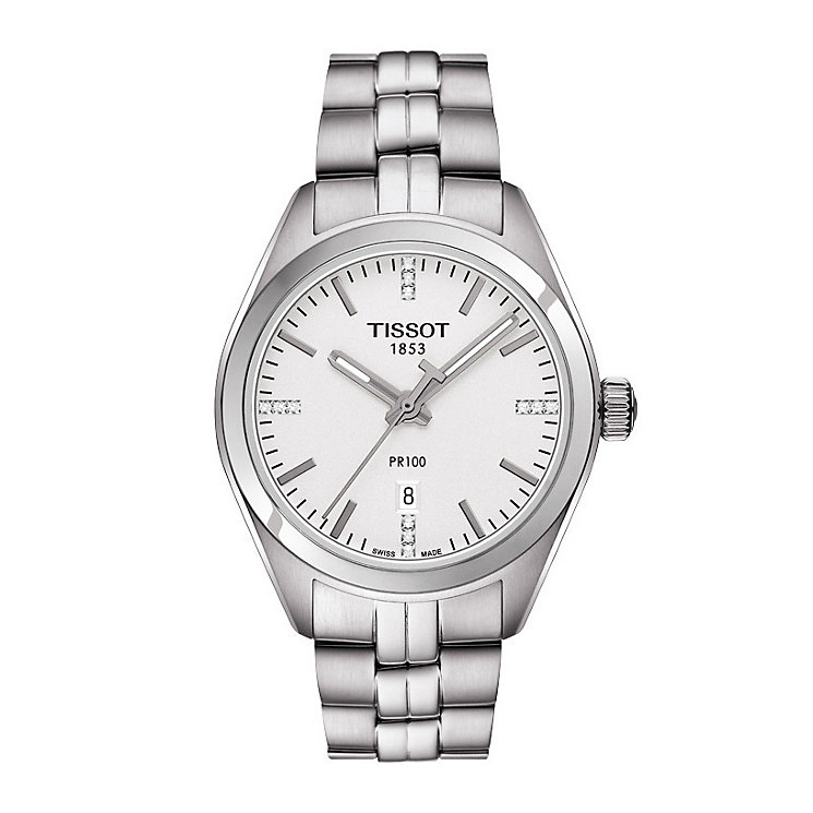 Tissot PR100 ladies' stainless steel bracelet watch - Product number 3518957