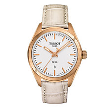 Tissot PR 100 ladies' rose gold plated strap watch - Product number 3519139