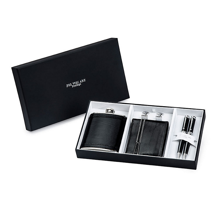 Jos Von Arx Wallet, Flask, Cufflinks and Pens Gift Set - Product number 3520773