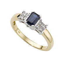 18ct gold sapphire and diamond ring - Product number 3521818