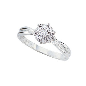 18ct white quarter carat diamond ring - Product number 3522482