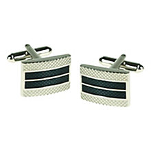 Gridded Two Colour Cufflinks - Product number 3528669