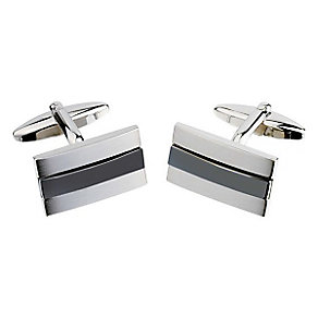 Silver Striped Cufflinks - Product number 3528766