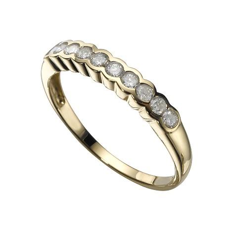 18ct gold quarter carat diamond ring